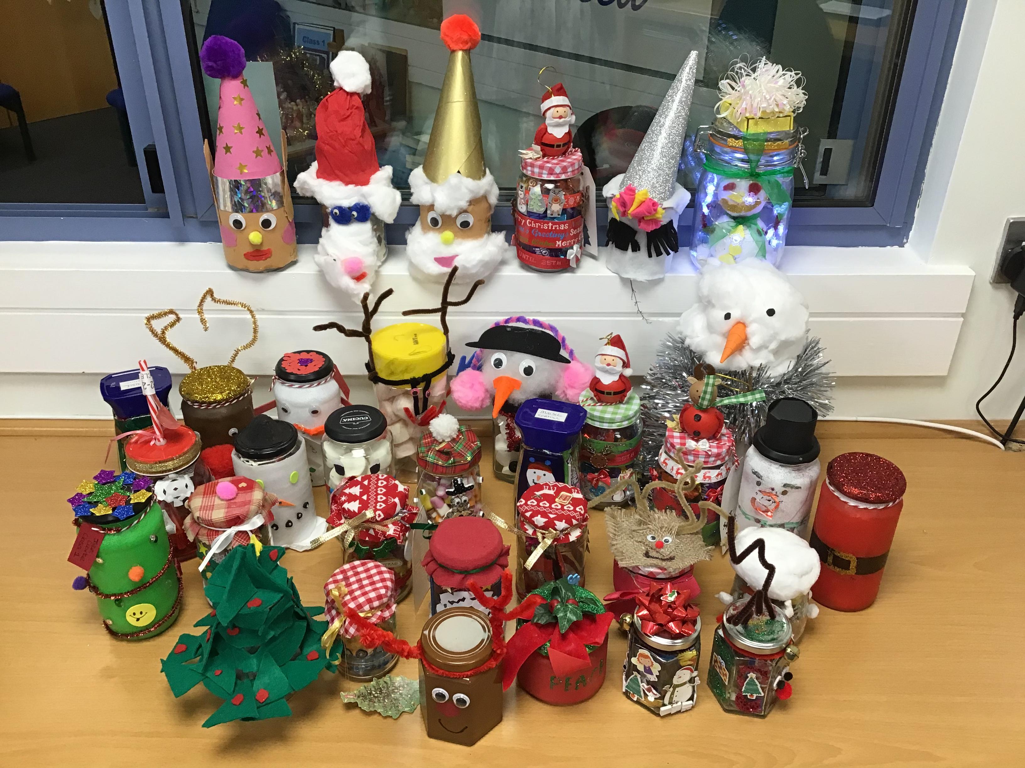 Christmas Jam Jars Brown Clee Ce Primary School